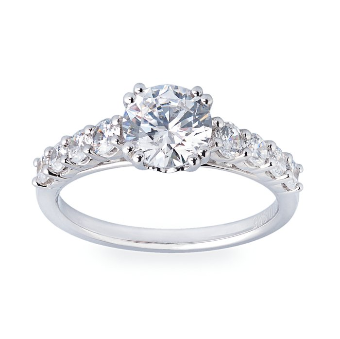 engagement ring straight fischer jewelry designs