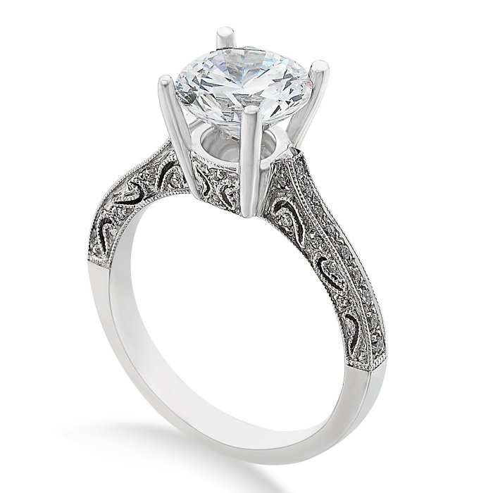 engagement ring l2363 this classic engagement ring features an